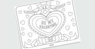 There are also more intricate valentine doodles and mandalas for big kids to color in too. Free Printable Valentine S Day Coloring Pages For Adults And Kids Baby Savers Babysavers Com