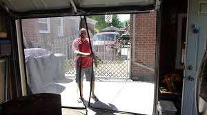 garage screen doorsTim 9x7 garage door screen  YouTube