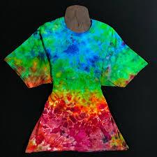 Custom Design Tie Dye T Shirts Reverse Rainbow Splatter Ice Dye T Shirt Sizes Sm 3xl