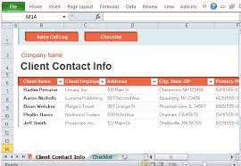 customer contact sheet sales call log organizer for excel