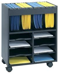 rolling office cart. Charming Rolling File Cart Two Tier Office