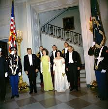kn c president john f kennedy governor luis munoz marin of  president john f kennedy governor luis munoz marin of puerto rico and others at a dinner for governor munoz marin