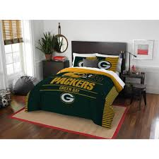 nfl green bay packers draft bedding comforter and sham football sports bed set