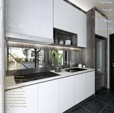 Modern Kitchen Interior Design New Wet Kitchen Modern Kitchen By Enrich Artlife Interior Design Sdn