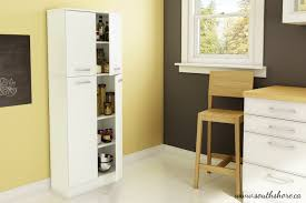 Furniture Kitchen Pantry Amazoncom South Shore Axess Storage Pantry Pure White Home