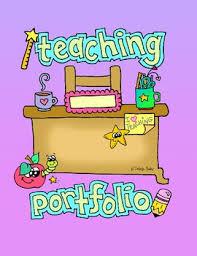 Freebie Teaching Portfolio Cover Page And Spine By Dobrija Bailey