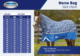 Blanket Measurement Chart Horse Blanket Size Guide