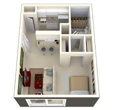 Planos De Apartamentos Pequeños De Un Dormitorio Studio - Small apartment floor plans 3d