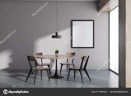 Weiße Wand Minimalistischen Skandinavischen Stil Esszimmer