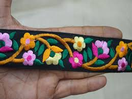 Decorative Fabric Trim Pink Fabric Trim Decorative Ribbon Embroidered Trim By The Yard