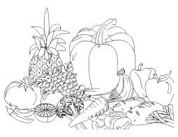 Printable Fruits And Vegetables Coloring Pages Pdf Fruit Vegetable