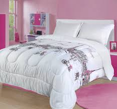 full queen paris comforter bedding set france pink white grey eiffel tower com