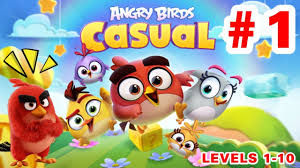 ANGRY BIRDS CASUAL Levels 1 - 10 (iOS /Android) Gameplay Walkthrough EP1 -  YouTube