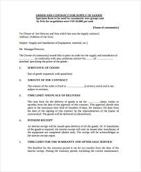 Supply Of Goods And Services Agreement Template Service Contract ...