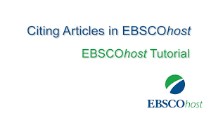 How To Use The Ebsco Cite Feature