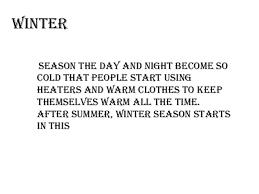 seasons in winter season startsin thiswinter 6 at