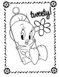 Small Picture Free Printable Tweety Bird Coloring Pages For Kids
