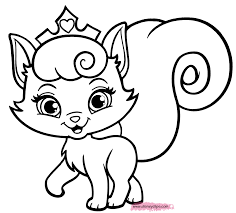 Small Picture Puppy And Kitten Coloring Pages 504 Free Printable For Princess