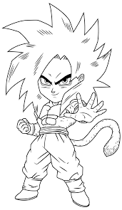 Small Picture goku ssj4 chibi lineart by maffo1989 on DeviantArt