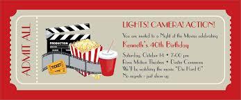 Movie Ticket Invitations Template Invitation Templates For Movie Party Best Invitation Template Movie 1