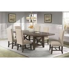picket house furnishings francis 7pc dining set table 6 fabric dining chairs