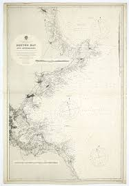 British Admiralty Charts Old Map By British Admiralty Chart Boston Bay Approaches