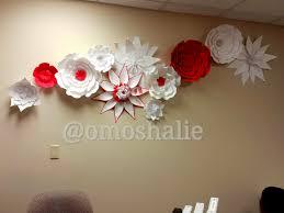 wall art decor ideas handmade collage paper flower wall art white
