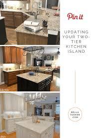 Two Tier Kitchen Island Designs Two Tier Kitchen Island Update Bella Tucker