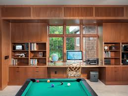 game room lighting ideas. Contemporary Family Room Design Ideas With Game Built In Desk Lighting
