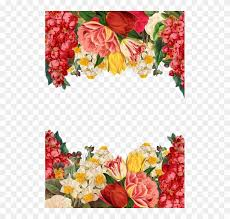 flower frame background vintage roses bouquet happy new year 2018
