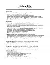 Biologist Sample Resumes Resume 1