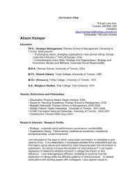 Resume Templates University Of Toronto Your Prospex