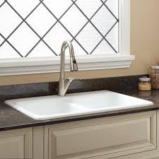 White Enamel Kitchen Sinks Double Kitchen Sink Size Cliff Kitchen