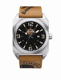 mens harley davidson nylon strap watch by bulova 76b144 watches mens harley davidson tan strap watch by bulova 76b153