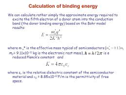 calculation of binding energy