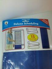 Carson Dellosa Deluxe Scheduling Pocket Chart Deluxe Scheduling By Carson Dellosa Publishing Staff 2010 Merchandise Other