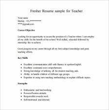 fresher job resume
