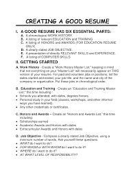Resume Examples Excellent 10 Creating A Resume Template Creating