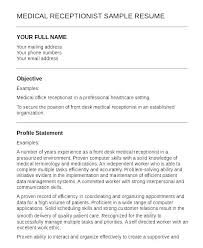 Sample Resume For Front Office Receptionist Sample Resume For Front