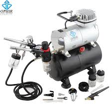 ophir 3x dual action airbrush with air tank pressor spray gun for cake decoration makeup car