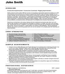 download construction resume template - Sample Construction Superintendent  Resume