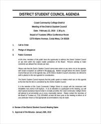 Sample Student Agenda. School Meeting Agenda Example School Agenda ...