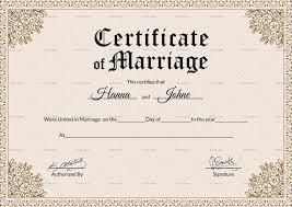 Keepsake Marriage Certificate Design Template In Psd Word