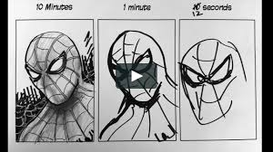 sd challenge 10 minutes 1 minute 10 seconds drawing spiderman on vimeo