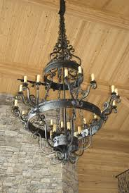 lighting appealing rustic wrought iron chandelier 19 rustic wrought iron candle chandelier