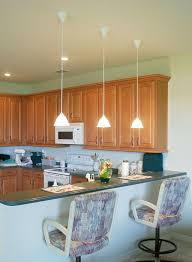 Image of: pendant lighting for kitchen island Fresh low hanging mini  pendant lights over kitchen
