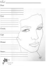 senna makeup artist face charts google search printable