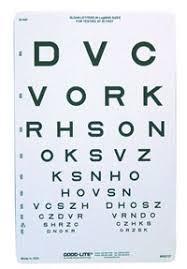 Sloan Letter Eye Chart 20 Distance Sc 8529