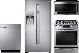 Kitchen Packages Appliances 4 Piece Kitchen Package With Nx58h9500ws Gas Range Rf23j9011sr