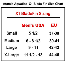 Atomic Fins Size Chart Atomic Aquatics X1 Fin Medium Yellow